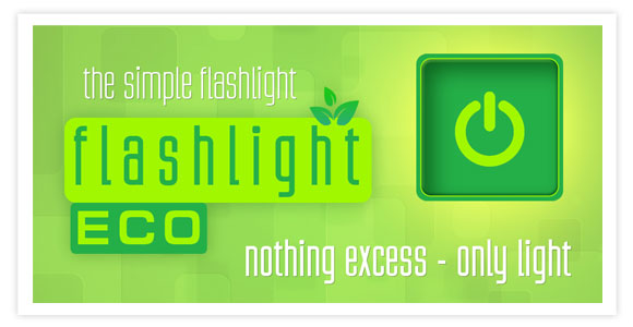 Free app for android - Flashlight Eco. The simpliest flashlight! Nothing excess - only light!