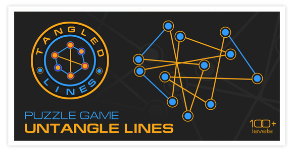 Free game for android and ios - Tangled Lines. Puzzle game where you need to untangle the lines