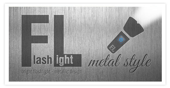Free app for android - Flashlight. Stylish metal design flashlight is a simple, elegant, useful and reliable application.