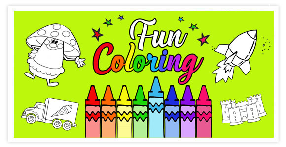 Fun Coloring for kids is a simple but beautiful application that will replace the coloring book for you.