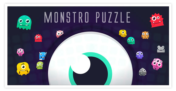 Monstro Puzzle : Match 3 & Full Line. 3 in a row with monsters fun & exciting game Match 3 works without Internet.
