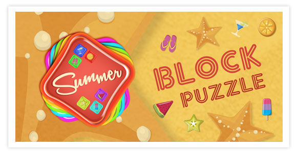 Free game for android and ios - Block Puzzle Summer. Block Puzzle Summer exciting and fun block game. Summer Match 3 game.