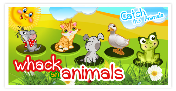 Free game for android - Whack an animals (Catch the Animals). Catch the Animals (Whack an animals) is a cheery and funny game for kids and adults.